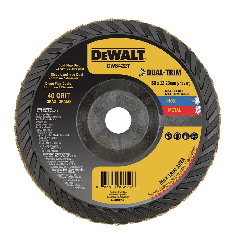 DEWALT – Disco Flap Dual Trim